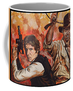 Han Solo And Indiana Jones Coffee Mug