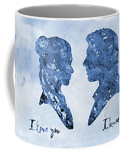 Han Solo And Princess Leia-blue Coffee Mug