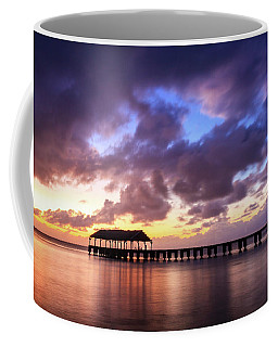 Hanalei Pier Coffee Mug by James Eddy