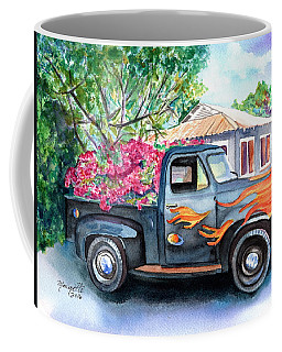 Coffee Mug featuring the painting Hanapepe Truck 2 by Marionette Taboniar