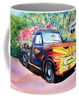Coffee Mug featuring the painting Hanapepe Truck 3 by Marionette Taboniar