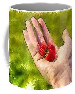 Hand And Raspberries - Da Coffee Mug