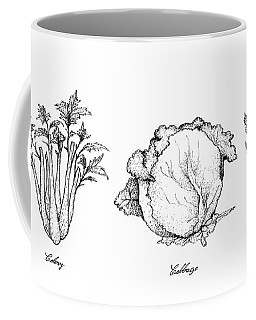 Hand Drawn Of Celery, Cabbage And Chicory Coffee Mug
