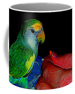 Hand Fed In Abstract Coffee Mug