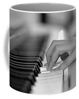 Hand On Piano Keyboard Coffee Mug