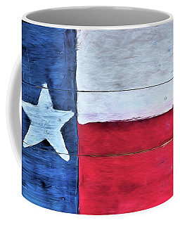 Hand Painted Texas Flag Coffee Mug