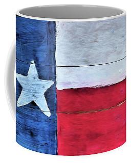 Hand Painted Texas Flag Coffee Mug