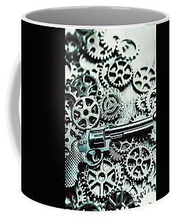 Handguns And Gears Coffee Mug