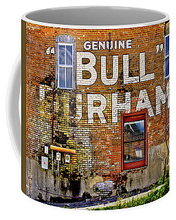 Coffee Mug featuring the photograph Handpainted Sign On Brick Wall by David and Carol Kelly