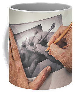 Hands Drawing Hands Coffee Mug