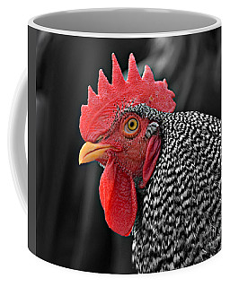 Handsome Plymouth Rock Rooster Coffee Mug