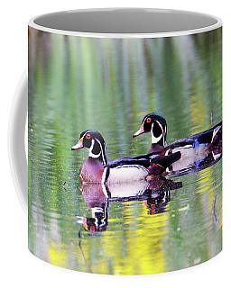 Handsome Wood Ducks Coffee Mug by Kathy Kelly