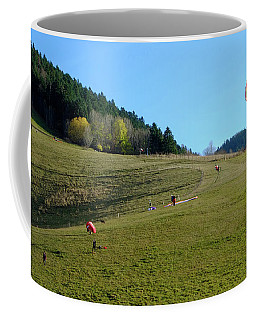 Hang Gliding In The Prealps Coffee Mug