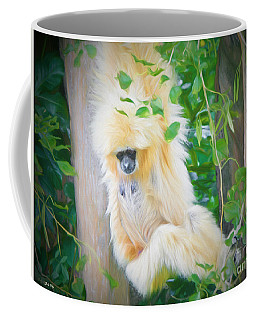 Coffee Mug featuring the painting Hang In There by Judy Kay