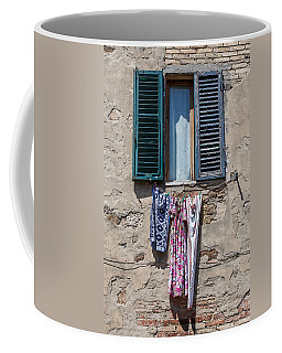 Hanging Clothes Of Tuscany Coffee Mug