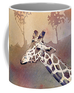 Coffee Mug featuring the painting Hanging Out- Giraffe by Ryan Fox