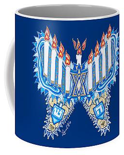 Hanukkah Butterfly Coffee Mug