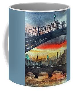 Hapenny Bridge Sunset, Dublin...27apr18 Coffee Mug
