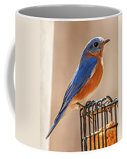 Happiness In Blue Coffee Mug by Jim Moore