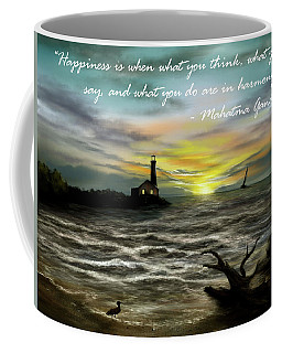 Happiness Inspirational Quote Coffee Mug