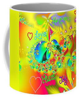 Coffee Mug featuring the mixed media Happiness by Kevin Caudill