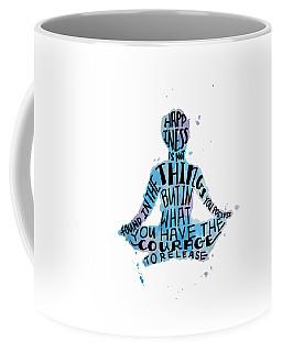 Happiness Meditation Quote 16x20 Coffee Mug