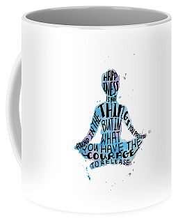 Happiness Meditation Quote 16x20 Coffee Mug
