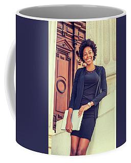 Happy African American College Student Coffee Mug