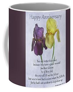Happy Anniversary Greeting Card Coffee Mug by David and Carol Kelly