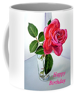 Happy Birthday Card Rose  Coffee Mug