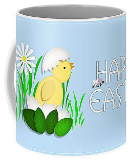 Happy Easter Baby Chick Card Coffee Mug