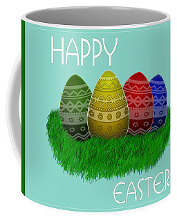 Happy Easter Eggs Card Coffee Mug