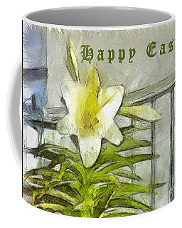 Coffee Mug featuring the photograph Happy Easter Lily by Claire Bull