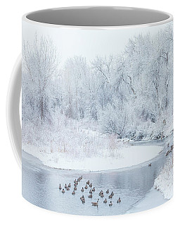 Coffee Mug featuring the photograph Happy Geese by Darren White