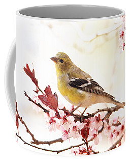 Happy Goldfinch Coffee Mug by Trina Ansel