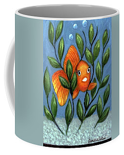 Happy Goldfish Coffee Mug by Sandra Estes