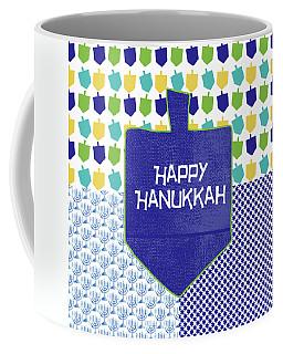 Happy Hanukkah Dreidel 2- Art By Linda Woods Coffee Mug