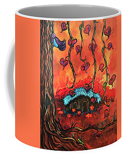 Cabin In The Woods Coffee Mug by Dani Abbott