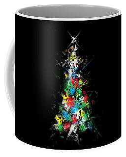 Happy Holidays - Abstract Tree - Horizontal Coffee Mug
