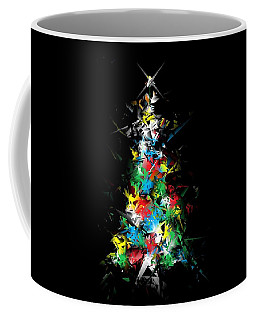 Happy Holidays - Abstract Tree - Horizontal Coffee Mug