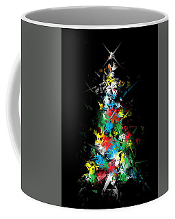 Happy Holidays - Abstract Tree - Vertical Coffee Mug