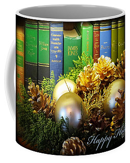 Happy Holidays Books Coffee Mug