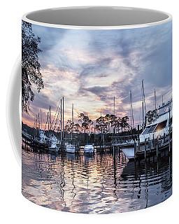 Happy Hour Sunset At Bluewater Bay Marina, Florida Coffee Mug