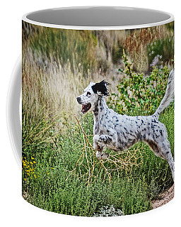Happy Huntress, English Setter Coffee Mug