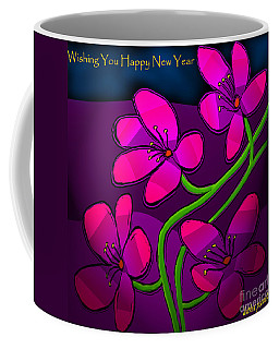 Happy New Year Coffee Mug by Latha Gokuldas Panicker