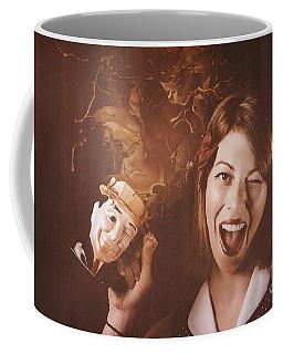Happy Oktoberfest Woman Making A Stein Beer Splash Coffee Mug