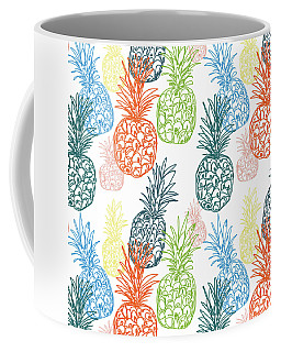 Happy Pineapple- Art By Linda Woods Coffee Mug
