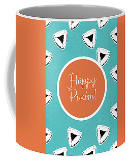Coffee Mug featuring the mixed media Happy Purim Hamentashen- Art By Linda Woods by Linda Woods