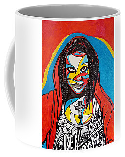 Coffee Mug featuring the drawing Happy Sixteenth Birthday Marissa - 02 by Mudiama Kammoh
