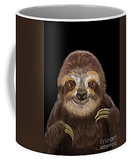 Happy Sloth Coffee Mug by Thomas J Herring